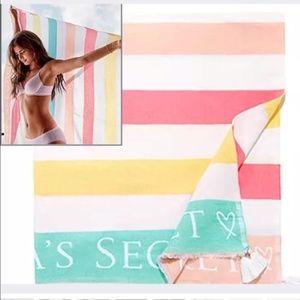 VS Beautiful Pastel Striped Beach Blanket (60X50)